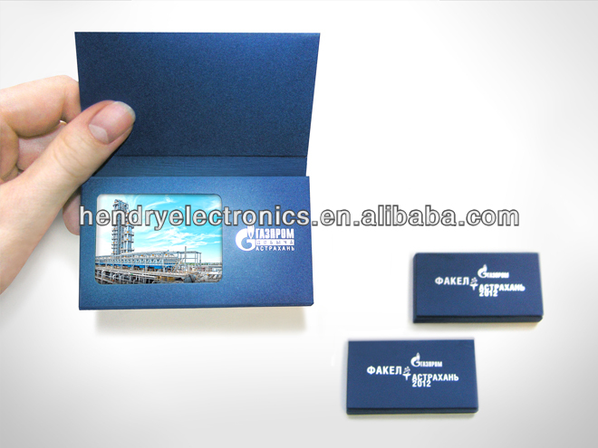 Promotional Smaller size Video postcard with 128MB memory