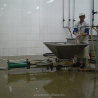 Slaughterhouse equipment Pneumatic offal out put convey system