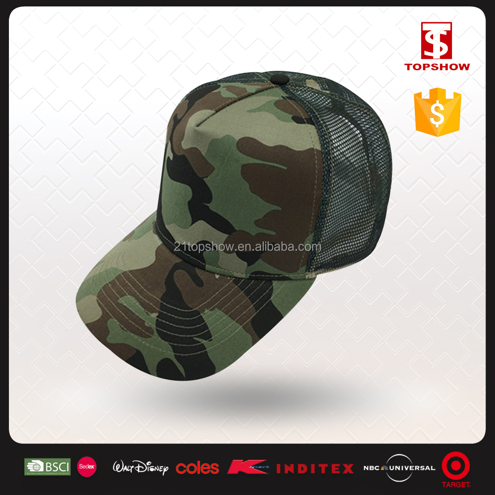 Topshow military style cotton polyester custom digital camo baseball hats