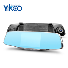 Full HD 1080p car dashboard camera rearview mirror touch screen dual lens camcorder