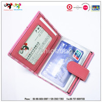 Really manufacturer supply leather business card holder