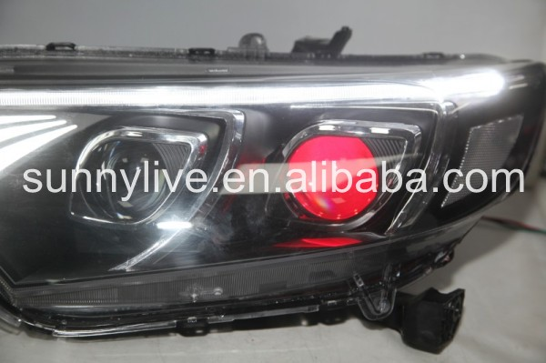 For HONDA for Fit Jazz Head Lamp 2015 year Black Housing YZ