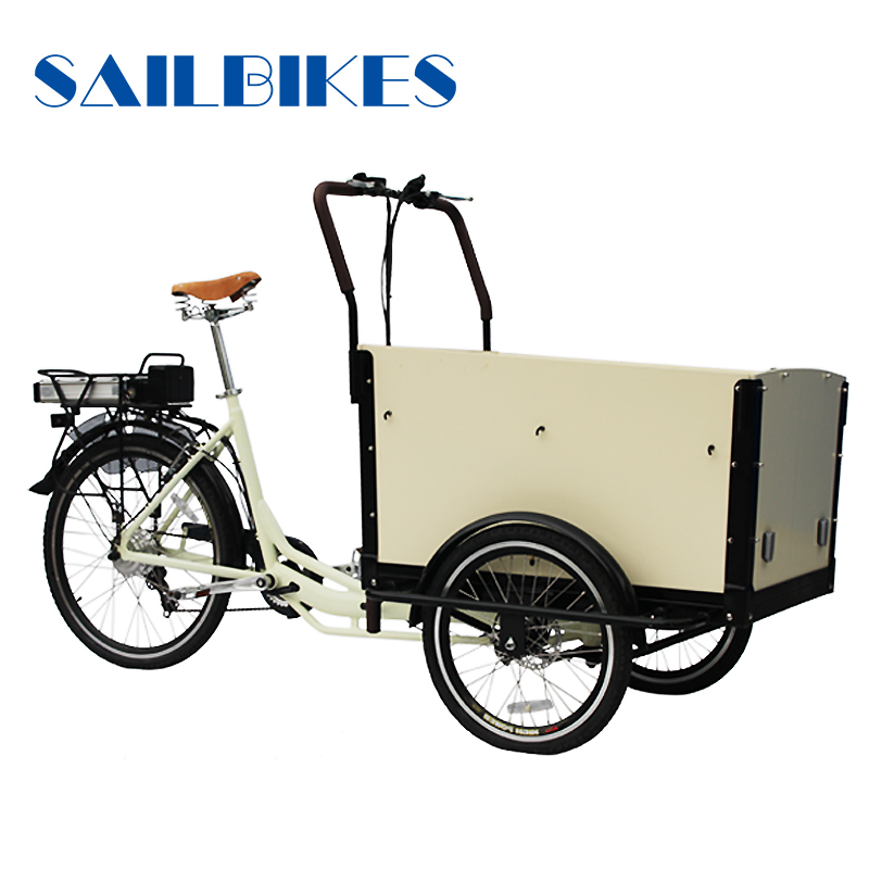 Three wheels new closed cabin cargo tricycle