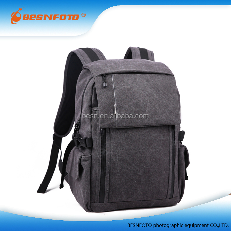 Grey High Quality Bag For Camera New Canvas Photo Backpack Tablet Bag