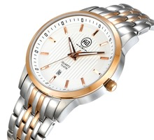 Hot sale factory direct price mens stainless steel quartz gold watch with high performance