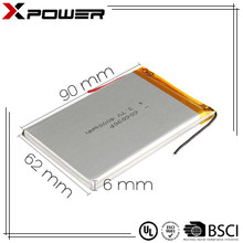 Hot sale 4000mAh 3.7v li-ion battery lithium ion for tablet pc E-book