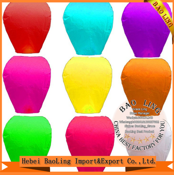 New cotton fuel normal shape flameproof manufacturers sky lantern