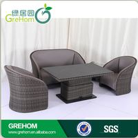 outdoor furniture garden & leather sofa for outdoor