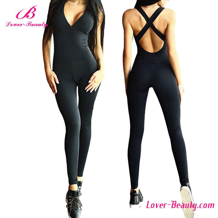 sports black yoga pant sex custom made jumpsuit wholesale