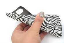 2016 new product zebra-stripe PU Leather Case ,for iphone 7 cover,for iphone 7 case