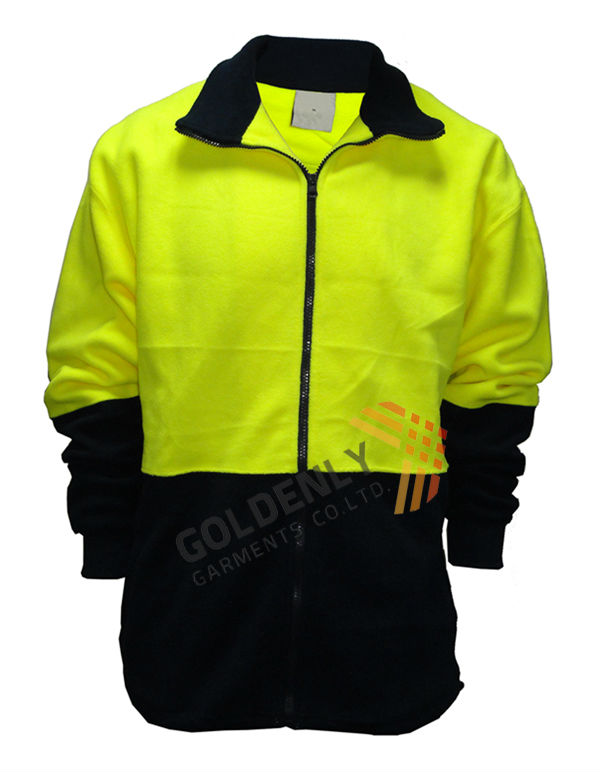 mens fluorescent safety jacket