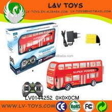 Hot-selling plastic rc toy school bus with light ( battery and charger are included)