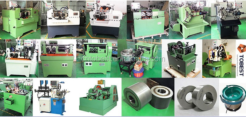 Thru feed thread rolling machine long pipe threading machine