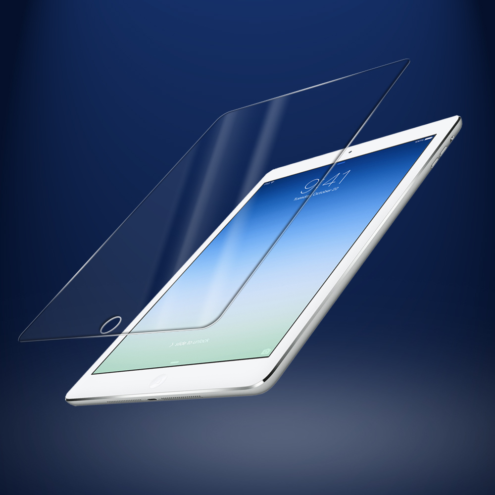 Toughened glass protective screen protector for iPad air2 Oleophobic coating extremely smooth finish AA quality