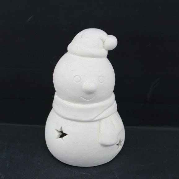 hot sale Snowman DIY ceramic bisque for children painting