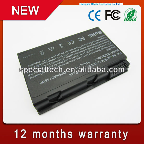 Battery For Acer Aspire BATBL50L6 BATCL50L6 BATBL50L4 BATBL50L8H 3100 3103 3690 5100