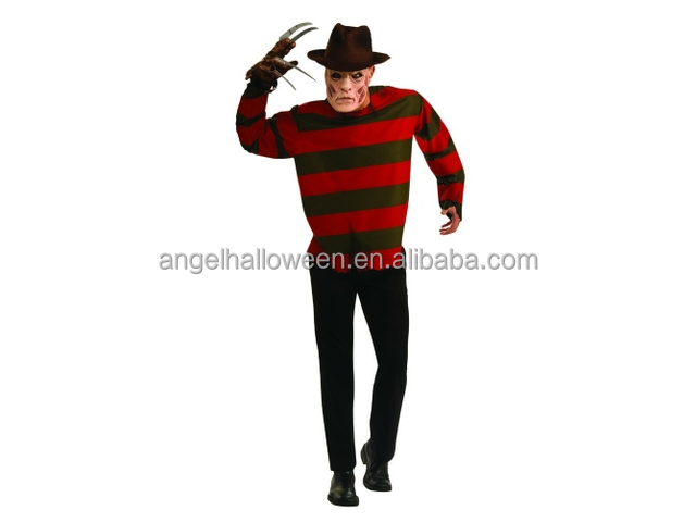 Freddy Krueger Men's Fancy Dress Halloween Horror Costume Adult Outfit New AGM2851