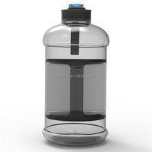 black Portable 2.2L BPA Free Plastic Big Large Capacity Gym Sports Water Bottle