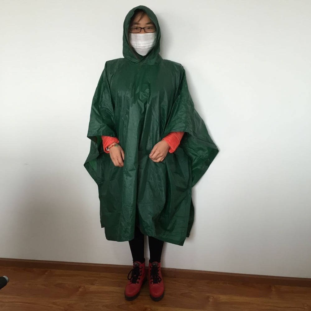 Custom Made Raincoat unisex Hooded PVC Rainwear Rain Poncho