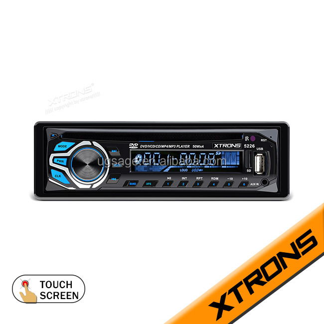 XTRONS cheap price 1 din touch screen car multimedia autoradio gps dvd player with Remote Control