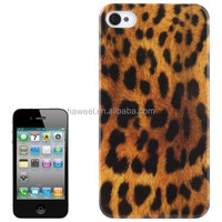 Leopard Pattern Plastic Protective Case for iPhone 4 & for iPhone 4S