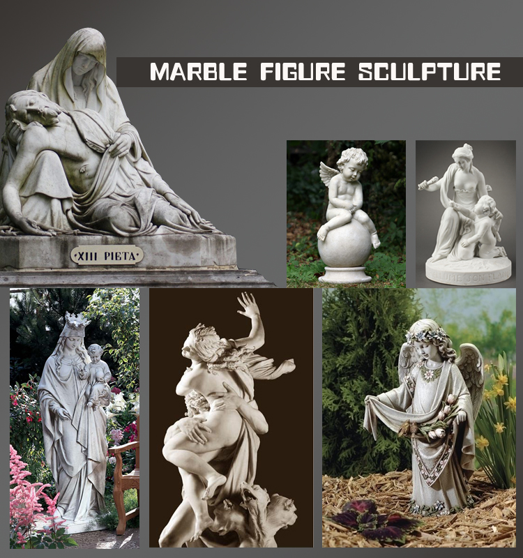 Outdoor life size garden decoration marble horse statue NTBA-002Y