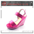 wholesale latest design ladies fancy wedge sandals