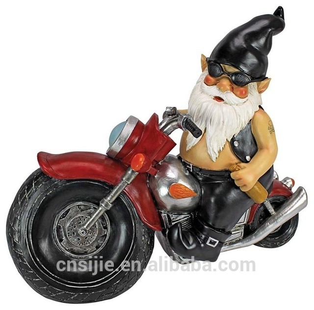 Popular Polyresin Dwarf Statues Gnomes Figurines for Garden Decoration