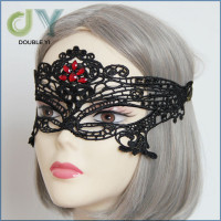 Customized New black lace sexy female masks have stock wholesale OEM is welcome