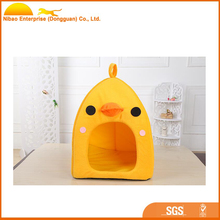 Cheap yellow duck shape pet dog houses for small animal