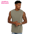 Sleeveless cut and sew day men blank t shirt