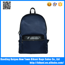 High quality wholesale custom oem teenager backpack genuine leather and nylon backpack for collage students