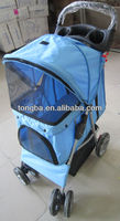 Pet Stroller Fold Up Stroller For Dogs With Shade Shelter
