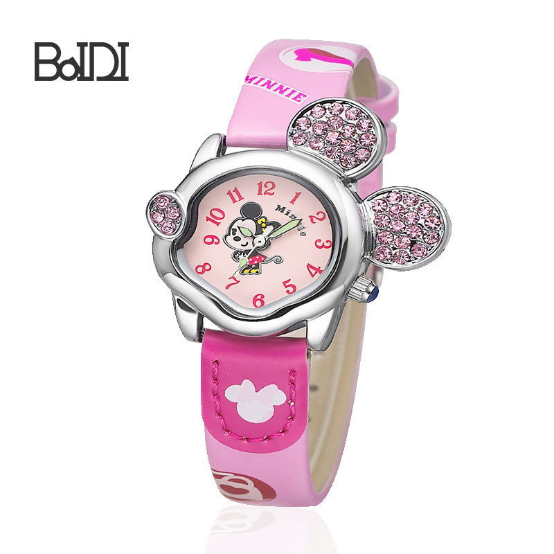 quartz analog water resistant watches disney products cute simple hand watch for girl