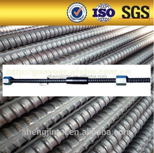 High Quality Thread Bar Ground anchors wall soil nailing screw anchor tieback system