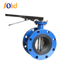 Ductile iron disc type dn150 flanged butterfly valve