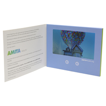 custom promotion customized TFT screen lcd display brochure education video greeting business card