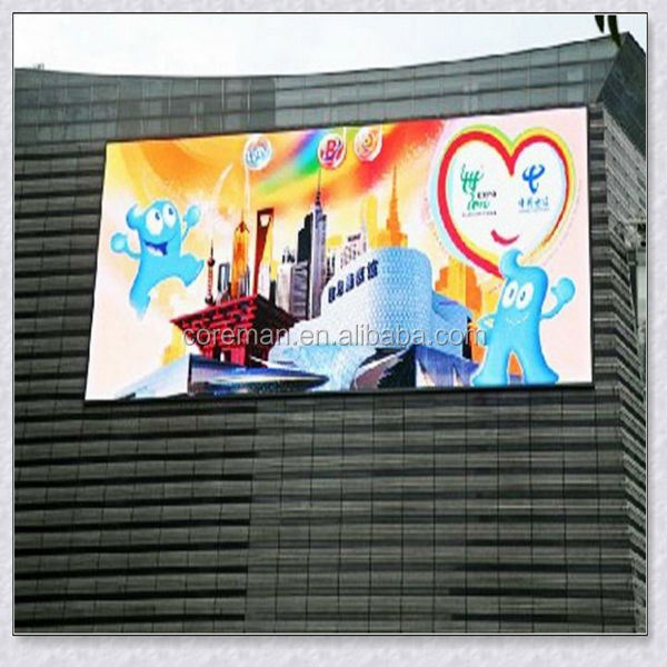 p10 p16 outdoor wall mounted led sign board / full color HIGH BRIGHTNESS OUTDOOR LED VIDEO DISPLAY P16