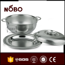 colorful stainless steel sering tray basin with lid