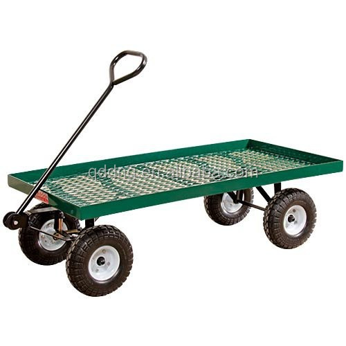 "500kg Heavy Duty Garden Nursery Wagon Cart 13"" Pneumatic tires"