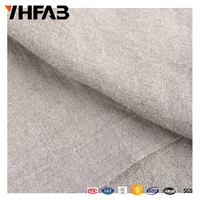 100% linen plain fabric pure linen fabric for hometextile/sofa/curtain
