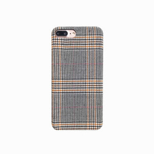 Warm Winter Stylish Hot Couple Fabric Tartan Lattice Mobile Phone Case For iphone X 8 8plus 7 7plus 6 6plus