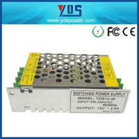 12V 2.5A 30W Switching Power Supply, Strong heat spreading performance with fan switch mode power supply