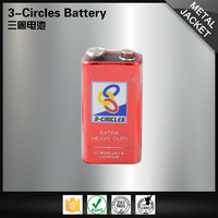 Wholesale non alkaline 6F22 metal carbon zinc 9v dry cell battery