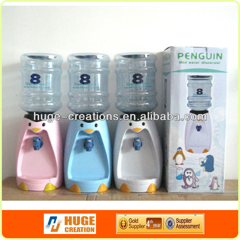 2016 new 1.3 Liters Mini Water Dispenser 8 Glasses Water Dispenser Penguin Style