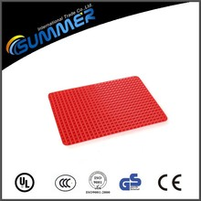 silicone Baking Mat Red Pyramid Pan Nonstick Silicone Kitchen Mat