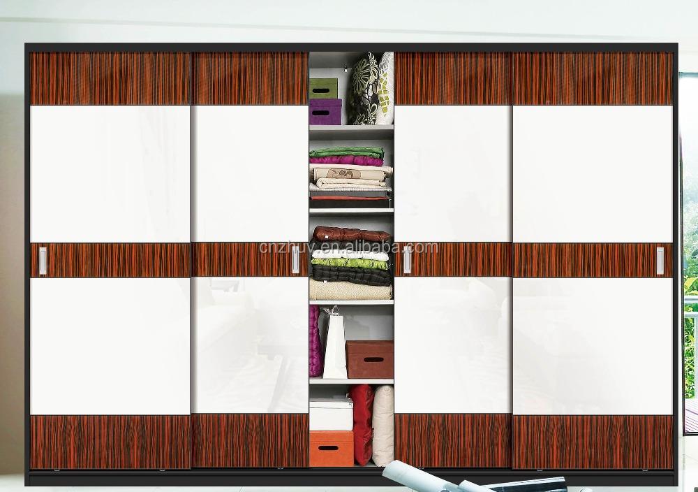 Venta caliente de moda dise o madera contrachapada laminada carril puerta corredera armario - Carril puerta corredera ...