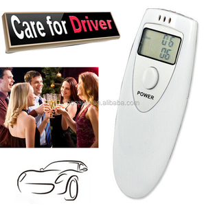 Professional Alcohol Analyzer Digital Breath LCD Display Breath Alcohol Tester