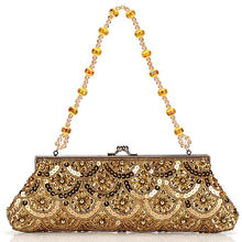 N107 woman crystal beads for embroidery beads clutch handbag