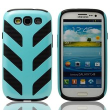 fashion design striated robot Case For samsung galaxy s3,Silicone +PC Soft Cover Robot Case for samsung galaxy i9300